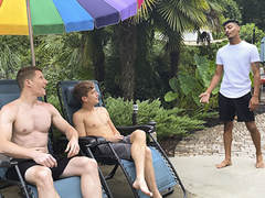 This week on BrotherCrush, it's a entire stepfamily affair as A killer stepbrothers Aiden Asher and Jesse Bolton tempt their firm-cocked stepcousin by the pool. They stretch some lotion on the toned fellow's figure and go nutsack deep in an euphoric ass-f